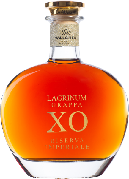 Grappa Lagrinum XO Riserva Imperial 0,5 l in Holzkassette